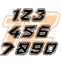 racing sports numbers vector image vector image
