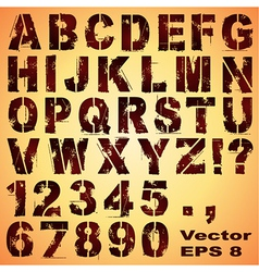 Stencil Letters and Numbers vector image vector image