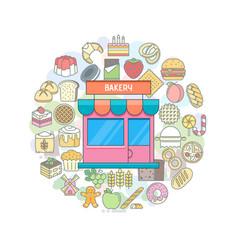 Bakery shop banner vector