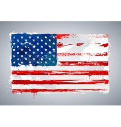 Grunge USA national flag vector image vector image