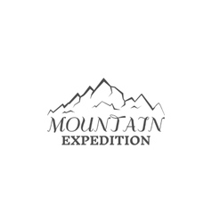 Mountain expedition badge outdoors logo emblem vector image vector image