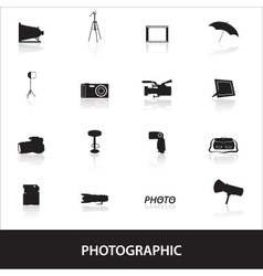 photographic icons eps10 vector image