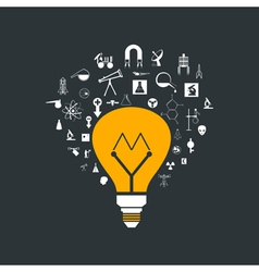 Yellow bulb vector image vector image