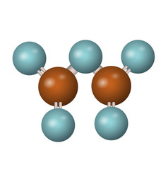 3d molecule of p2o5 vector image
