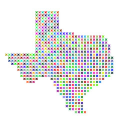 abstract texas map vector image