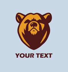 Angry bear logo template mascot design vector