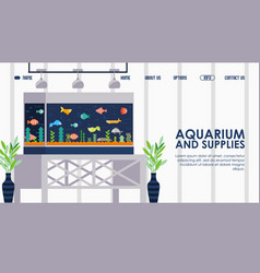 aquarium for home and office vector image