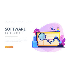 Automated testing concept landing page vector