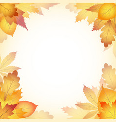 autumn design background with leaves falling from vector image