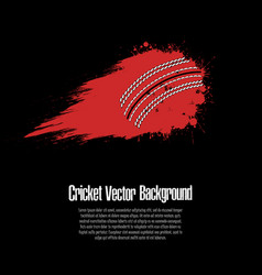 Background abstract cricket ball from blots vector
