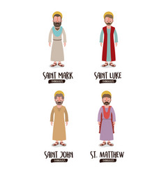 background with the evangelists saint mark saint vector image