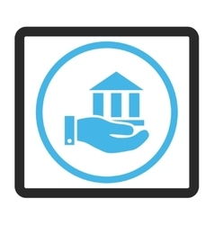 Bank Service Framed Icon vector
