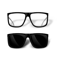 Black glasses vector image