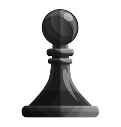 Black pawn piece icon cartoon style vector