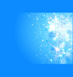 blue sky snow background vector image