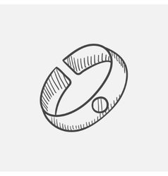 Bracelet sketch icon vector image