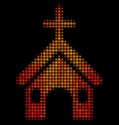 bright dotted christian church icon vector image