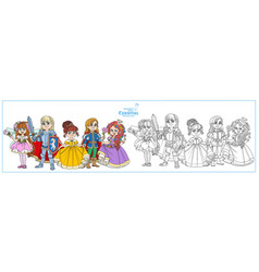 children in carnival costumes fairyprince vector image