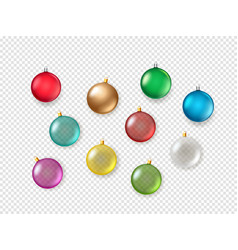 Christmas baubles on transparent background vector