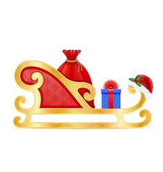 christmas sledges santa claus vector image