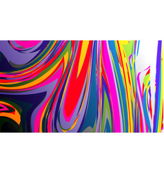Colorful rainbow marbling texture watercolor vector