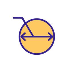 Diameter icon isolated contour symbol vector
