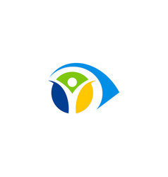 Eye people abstract colored logo vector
