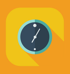 Flat modern design with shadow icons wall clock vector