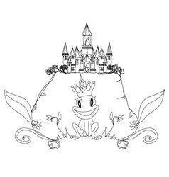 Frog Prince Cartoon Character vector