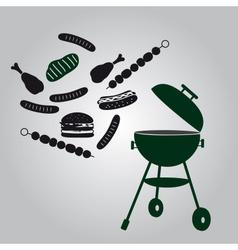 garden grill eps10 vector image
