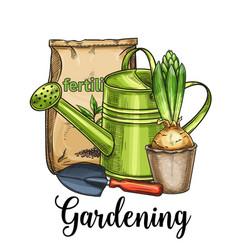 Gardening banner vector