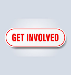 Get involved sign rounded isolated button white vector