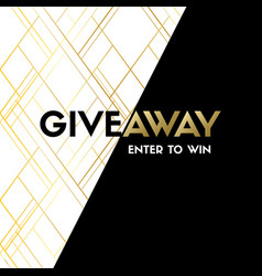 Giveaway enter to win luxury banner template vector