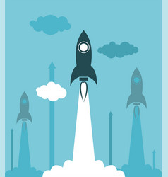 group rocket launch vector image