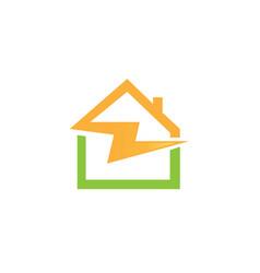 house flash logo vector image