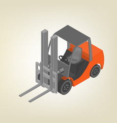 icon forklift isometric vector image