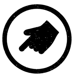 Index Finger Left Down Direction Icon Rubber Stamp vector