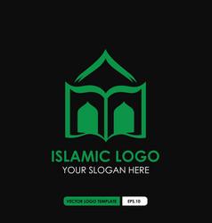 Islamic logo template vector