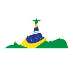 isolated cityscape of rio de janeiro vector image