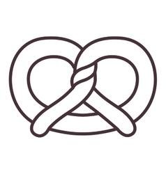 Isolated pretzel silhouette design vector