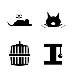 keeping cat simple related icons vector image