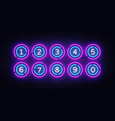 lottery balls neon signs lotto design vector image
