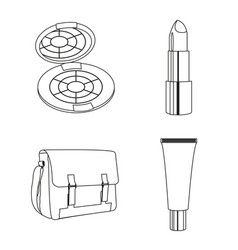 make up icon set design vector image