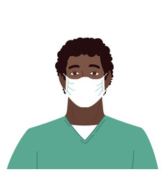 medical worker african american male nurse vector image