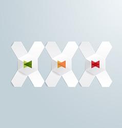 Modern Design XXX Paper Text signboard vector