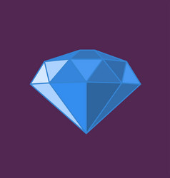 Modern diamond icon vector