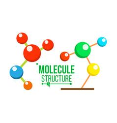 molecule structure icon dna symbol vector image