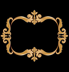 ornamental vintage frame for your text in golden vector image