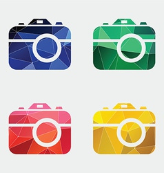 Photo camera icon Abstract Triangle vector