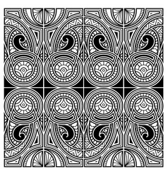 polynesian style tattoo ornament vector image